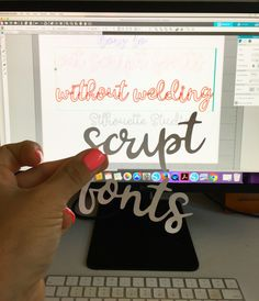 Did you know it's possible to cut script fonts with Silhouette Cameo or Portrait without welding? You guys, this is a game changer! Plotter Silhouette Cameo, Silhouette Cutter, Silhouette Cameo Tutorials, Silhouette School, Silhouette Machine, Silhouette Projects, Silhouette Design, Silhouette Studio, Silhouette Vinyl