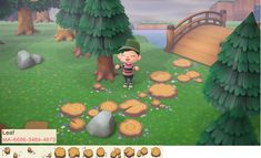 Animal Crossing 3ds, Animal Crossing Villagers, Animal Games, My Animal, Boarder Designs, Motifs Animal, Path Design, Forest Design, Forest Fairy