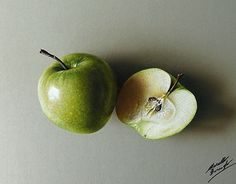 "Check out new work on my @Behance portfolio: ""A green apple and a half - drawing"" http://be.net/gallery/53833997/A-green-apple-and-a-half-drawing"