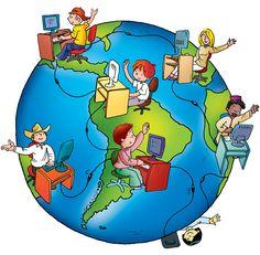 17 de Mayo –  Día Mundial de las Telecomunicaciones y de la Sociedad de la Información. Digital Citizenship Posters, Save Earth Drawing, Internet Art, Poster Making, Art Wall Kids, First Day Of School, Activities For Kids, Clip Art, Green Day