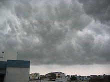 Monsoon clouds over Lucknow, Uttar Pradesh.