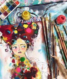 Paint With Freedom + Soul Online Art Classes, Look Back At Me, Happy Paintings, Draw Your, Paint Pens, Mixed Media Artists, My Character, Whimsical Art, Abstract Backgrounds
