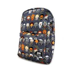dc05cd79537 Loungefly x Star Wars Solo Chibi Character Print Backpack at Entertainment  Earth ⭐️The Kessel Runway ⭐ Star Wars fashion ⭐ Geek Fashion ⭐ Star ...