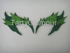 Poison Ivy Eyebrows with Glitter Leaves Poison Ivy by TartyGlamour