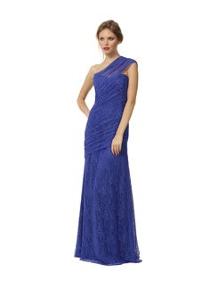 Liancarlo Style 3104 French Chantilly one-shoulder gown #lace #motherofthebride #evening #gown