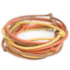 Sunny Cotton Bracelet in Yellow Orange Brown от TheSeaLovers