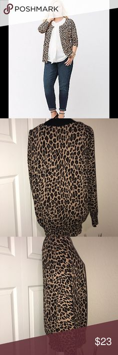 9ff78cb18cbd Lane Bryant Leopard print cardigan Pre owned Great condition Lane Bryant Leopard  print cardigan Size 18