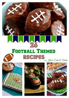 Are you ready for some football??!!! Get inspired for the upcoming Super Bowl with these football shaped foods!