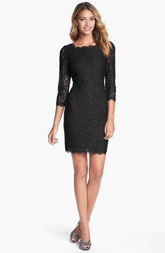 Women's Adrianna Papell Lace Overlay Sheath Dress