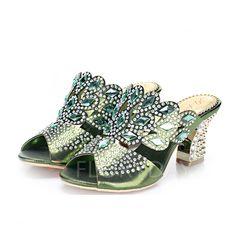 Shoes - $52.73 - Women's Sandals Peep Toe Slingbacks Chunky Heel Leatherette Shoes (1625102440)