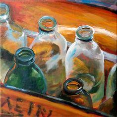 """0785 Bottle empty"" - Original Fine Art for Sale - © Dietmar Stiller"