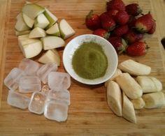 Matcha Fruit Smoothie Ingredients
