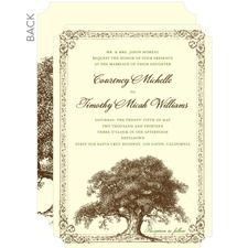 Tree Tale Wedding Cards