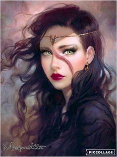 fantasy, girl, and black hair image Fantasy Girl, Fantasy Women, Fantasy Princess, Elven Princess, Fantasy Artwork, Character Portraits, Character Art, Character Concept, Fantasy Characters