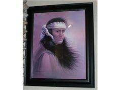 "Indian Print Autographed ""Z Garcia"""