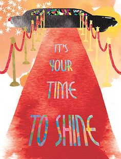 Give your recipient the red carpet treatment with this glamorous card from Masha D'yans. Celebrate a shiny birthday, congratulations or encouragement.