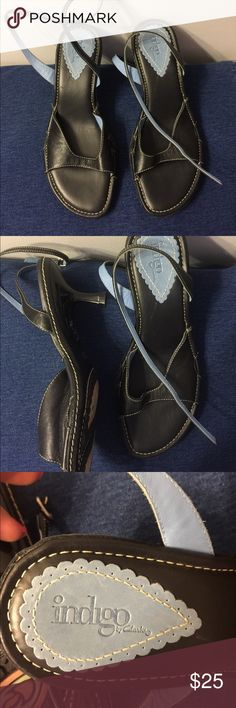 Clarks (Indigo) Sandals Size 6.5. NWOT $25 Indigo by Clarks Size 6.5 Sandals with Kitten heels and ankle wrap strap. Like New- no wear 👗 $25 Clarks Shoes Sandals