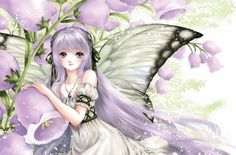 Fairy princess with butterfly wings by manga artist Shiitake.