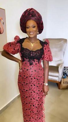 African Fashion Skirts, African Dresses For Women, African Print Fashion, African Attire, African Clothes, Nigerian Bride, Nigerian Weddings, Yoruba Wedding, African Head Wraps