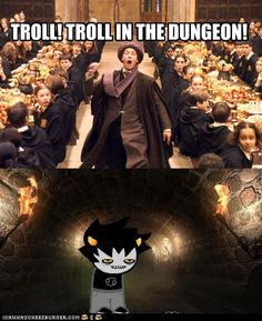 Karkat is in the dungeon?  He's probably just looking for Gamzee.  Calm down!