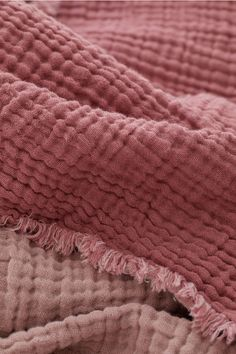 Cotton Muslin Bedspread - Dusty rose - Home All Mauve Bedding, Mauve Bedroom, Rose Bedroom, Bedroom Decor, Dusty Rose Bedding, Bedroom Colours, Fall Bedroom, Girl Bedding, Comforter