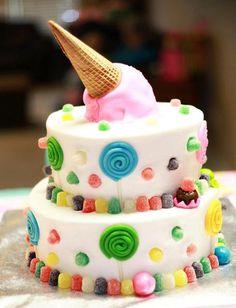 Cake at a Sweet Shoppe Party #sweetshoppe #partycake