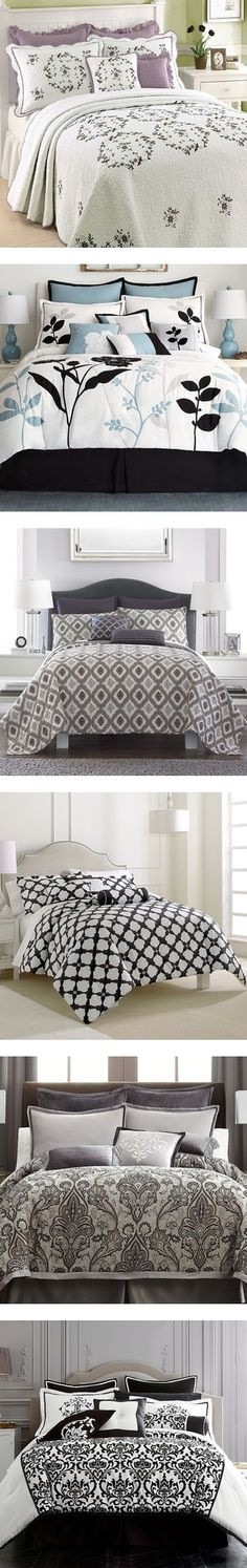 """b & w bedding"" by karen-allen-1 on Polyvore"