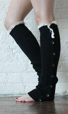 Leg Warmers Black Leg Warmers Boot Toppers Gift Fashion Heels, Fashion Outfits, Womens Fashion, Winter Outfits, Cool Outfits, Boot Toppers, Leg Warmers, Diy Clothes, Crochet