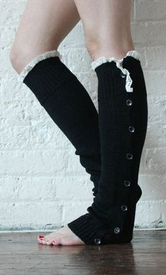 Leg Warmers Black Leg Warmers Boot Toppers Gift