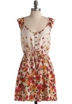 Modcloth Captivating Cascades Dress. I really need some border prints in my life... #modcloth #dress