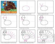 Draw a Cartoon Turkey