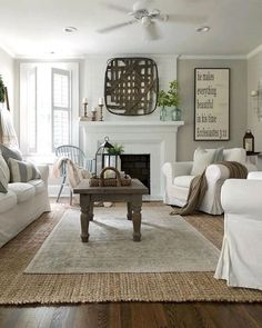 What Do You Think About Rustic Living Room Design Ideas? If you want to have ideas for an Comfy Rustic Farmhouse Living Room in your home. Check this out. Home Interior, Living Room Interior, Home Living Room, Interior Design, Living Spaces, Interior Ideas, Fireplace In Living Room, Work Spaces, Apartment Living