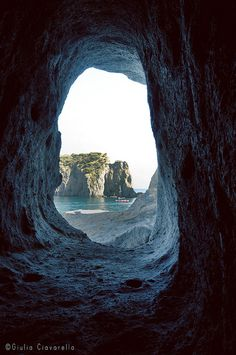 Ponza, Lazio Italy!   The Roman Tunnel!!!!!!!to the beach on the other side!!!!!