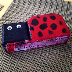 Kierra's Mother's Day gift to me~painted a ladybug on a brick