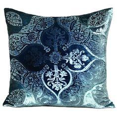 Persian Velvet Pillow in Shark from PoshTots