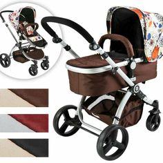 Infantastic® KBKW01happyflower Pushchair Pram / Stroller 2in1 (brown-flower pattern): Amazon.co.uk: Baby