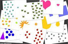Развивающие игры с детьми, большой - маленький, много- мало free printable card game, big - small, few - a lot