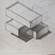 Axonometrics and perspective are the only two ways of representing a three-dimensional volume on paper... the first being a technical drawing and the latter an artistic drawing. Follow me for more tips on architectural drawing and design. Daily Drawing, Drawing Tips, Technical Drawing, Three Dimensional, Perspective, Decorative Boxes, Architecture, Paper, Drawings