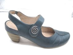 Remonte Dorndorf 39 8M aqua blue Mary Janes womens ladies shoes heels pumps  #RemonteDorndorf #MaryJanes #Casual