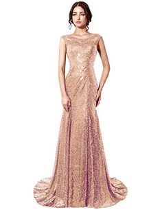 Belle House Rose Gold Sequins Sheer Neck Prom Dress Long Mermaid Evening Gown Belle House http://smile.amazon.com/dp/B018XCCWP2/ref=cm_sw_r_pi_dp_qbUBwb10HVQJP