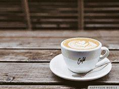 Good Morning Coffee Gif, Good Morning Cards, Gifs, Latte, Tableware, Dapper, Food, Drinks, Music