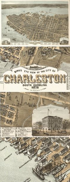 Home Decor - Office Decor - Gift Ideas - Check out some close ups of the intricate details on this Antique Map of Charleston, SC from 1872! Vintage maps make amazing pieces of art for any home or office, and they make great gifts! Find this map and more here http://www.mapsales.com/antique-wall-maps.aspx?flag=leftnav&utm_source=pinterest&utm_medium=pin&utm_campaign=caption