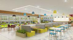 Restaurant Interior Design, Interior Design Companies, Cafeteria Design, School Cafe, Office Space Decor, Catering Design, Commercial Office Design, Corporate Office Design, Hospitality Design