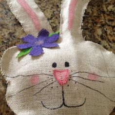 My bunny made of burlap!