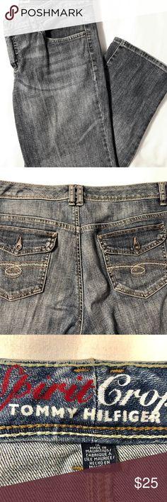 "Tommy Hilfiger Spirit Crop Jeans Size 12 Tommy Hilfiger Spirit Crop Jeans size 12. Inseam 26"". Tommy Hilfiger Jeans Ankle & Cropped"