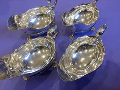 A Set Of Four Sauce Boats London 1879