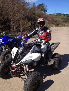 My boy on his Raptor 700... The thing is a BEAST