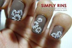 Flower nail design.