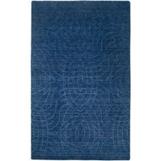 Rizzy Home UP2439 Uptown Hand Loomed New Zealand Wool Rug, Blue