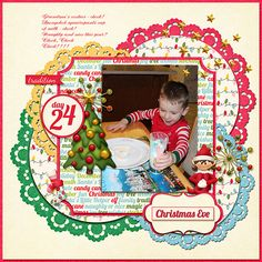 #papercraft #scrapbooking #layout for #Christmas